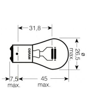 LAMPADA AUSILIARIA 2 FILAM. BAY15D 24V21/5W  7537